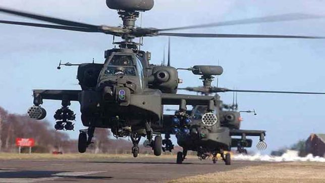 Indian Army demands 39 Apache Helicopters for Pak-China Border