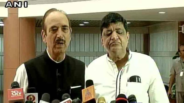 Ghulam Nabi Azad says party will discuss on kashmir, farmers and gaurakshak incidents in monsoon session