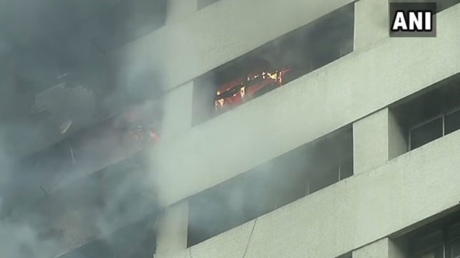 Fire breaks out at LIC building in Kolkata 10 fire tenders present at the spot