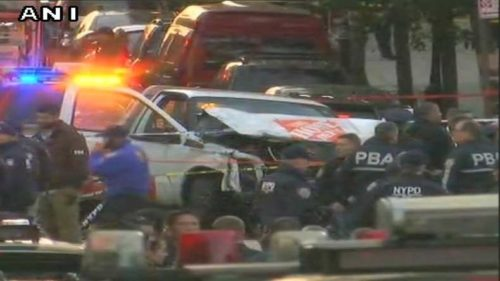 New York City attack: 8 people dead as vehicle drives onto bike path in lower manhattan