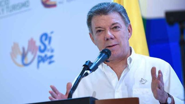 Nobel Peace Prize 2016 winner  uan Manuel Santos has been accused of Voilance