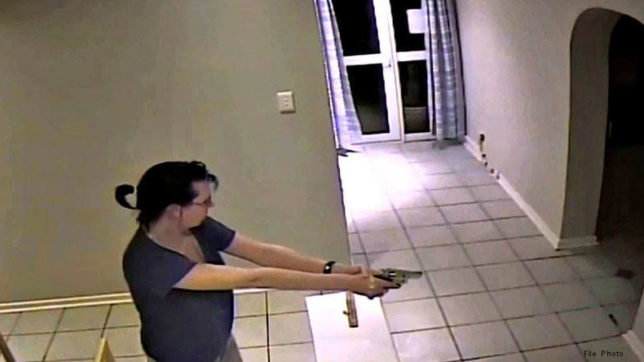 woman shot bullets on their guest after being pissed of by them