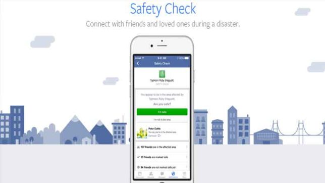 here is how you can use safety check feature on facebook