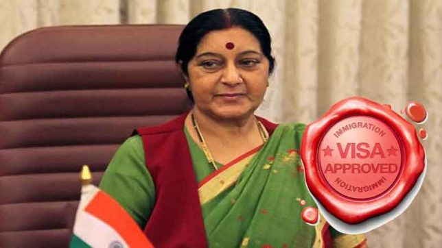 sushma swaraj directed to give visa to nri for his fathers funeral