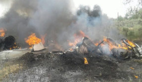 kiran trainer aircraft  crash