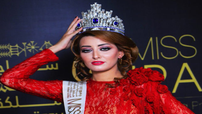 Miss Iraq in trouble with taking a selfie with Miss Israel