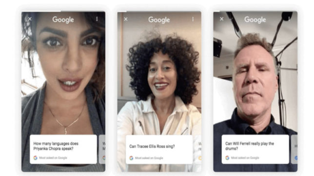 Google new search feature: Google let Priyanka Chopra to record there selfie videos