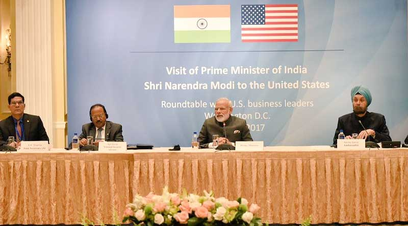 PM Modi at Round Table meeting with US business leaders in Washington DC