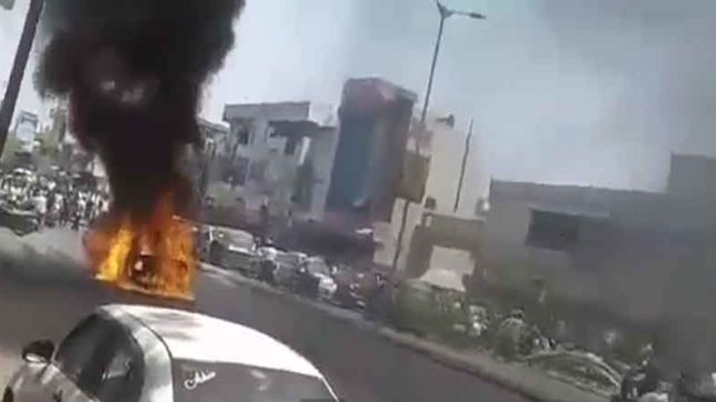 Fire in car, fire in moving car, Ahemdabad, Fire, heat, Gujrat, Local News, India News