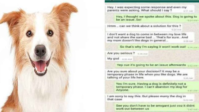 Dogie, Bengaluru, refused to marry, whatsaap, chat