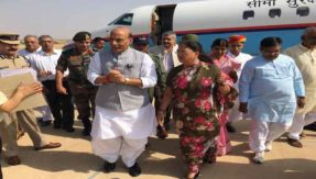 home minister rajnath singh will visit to jaisalmer to take review of india and pakistan