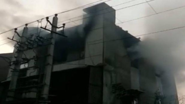 Fire Incident Bawana Delhi