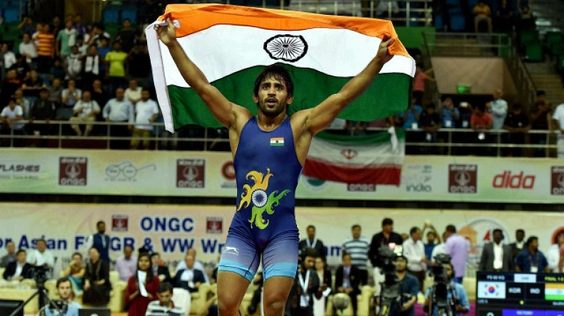 bajrang punia win gold Asian Games 2018