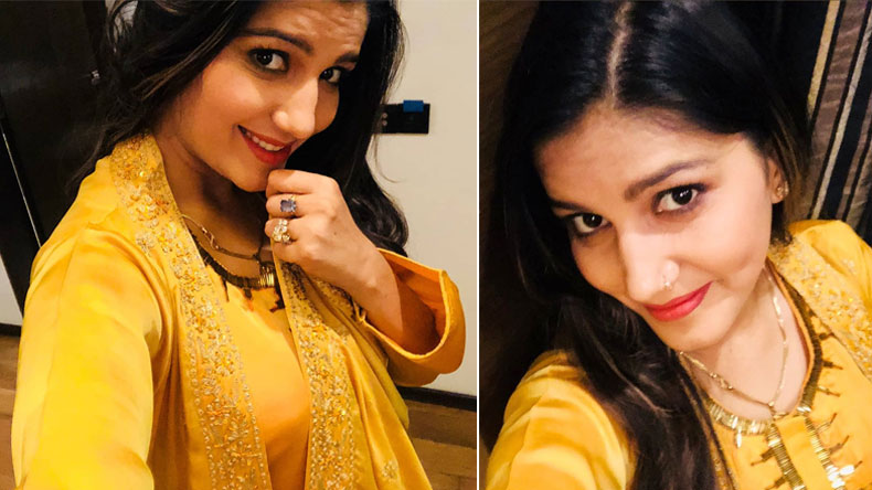 Haryanvi-Dancer-Sapna-Choudhary-Look-Gorgeous-This-Yellow-Outfit,-See-Pics