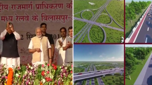 PM Modi lays the foundation stone for highway projects in Chhattisgarh