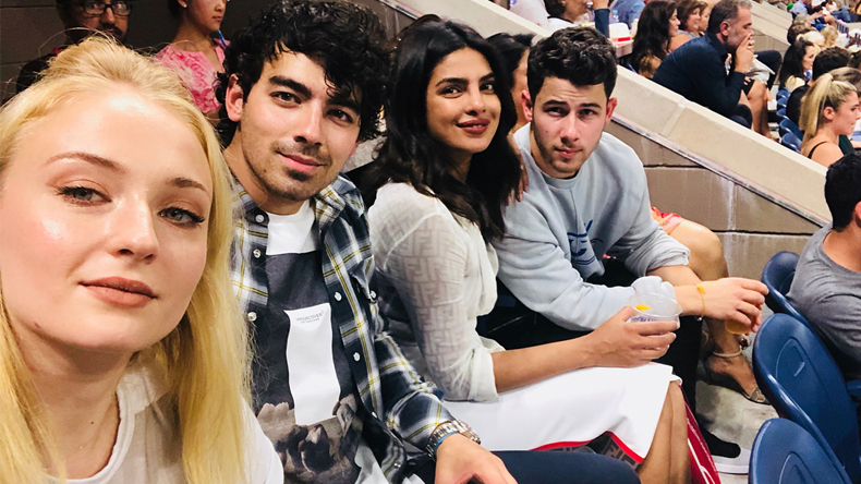 Priyanka Chopra is chilling at the US Open with Nick Jonas, Sophie Turner and Joe Jonas
