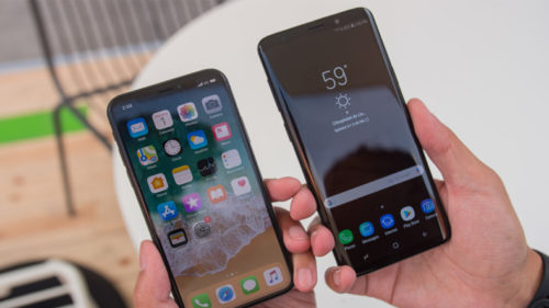 samsung galaxy note 9 and iphone x