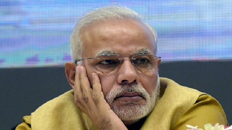 nerendra modi sad over Pre poll survey report on Lok sabha election 2019