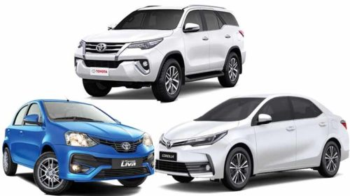 toyota cars price hike in india from 1st april 2019