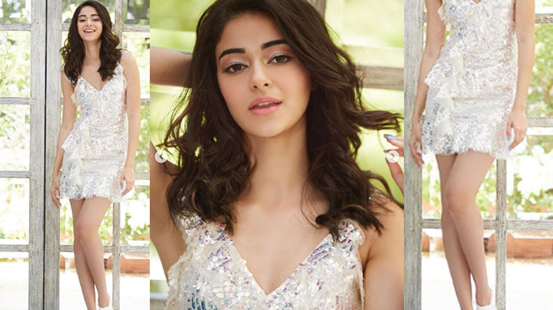 Ananya Pandey looks mesmerising in a sultry white short dress, watch video