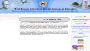 West Bengal WBCHSE 12th Result 2019