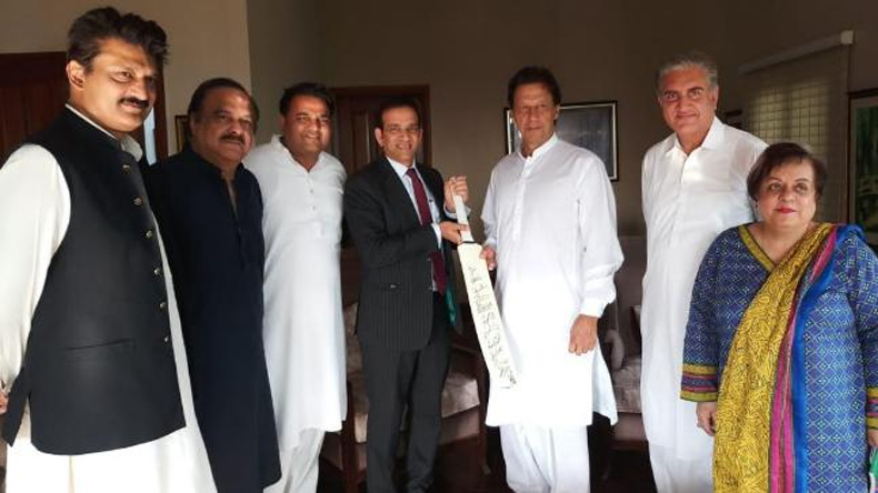 Ajay Bisariya India with Pakistani PM Imran Khan